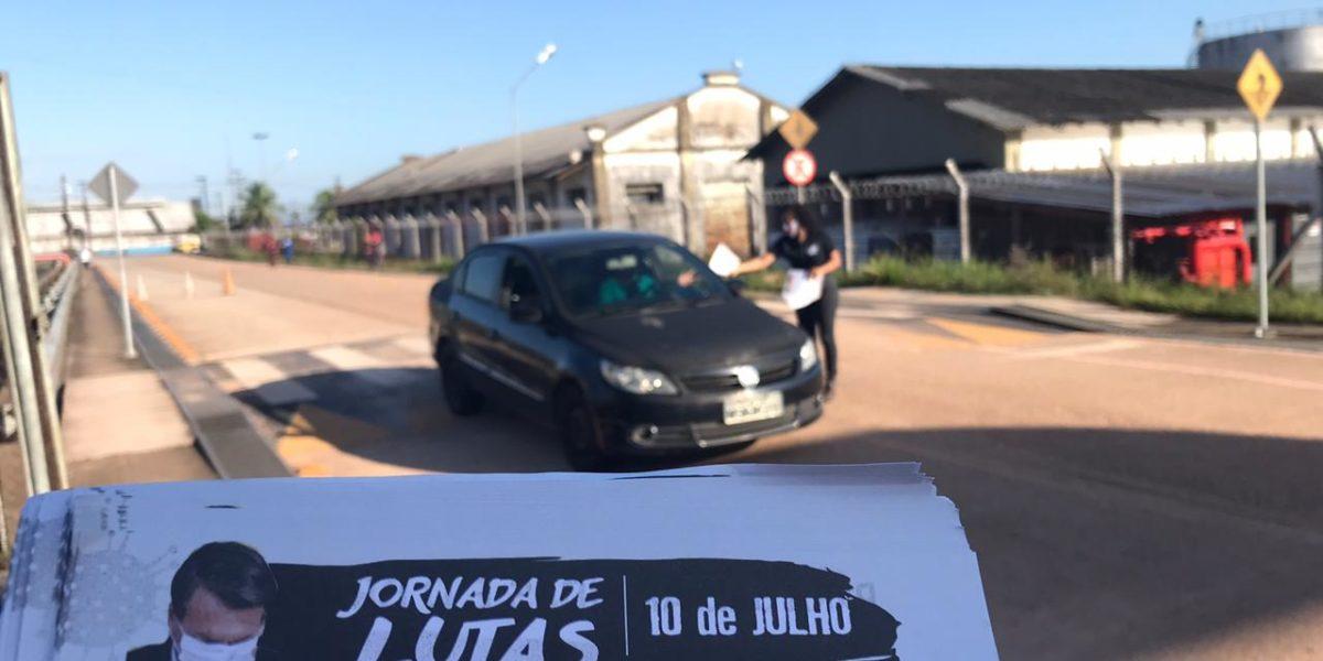 CSP-CONLUTAS IMPULSIONOU JORNADA PELO FORA BOLSONARO E MOURÃO